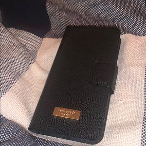 Kate Spade iPhone 6/7/8 portfolio case black